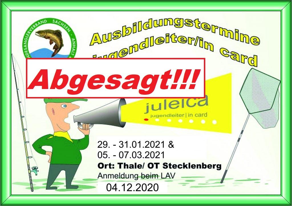 [NEWS] Juleica – Ausbildungstermine für 2021 abgesagt!!!